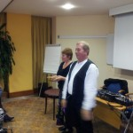 Richard and Ann Newall starting their workshop